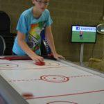 airhockey tijdens gamekamp