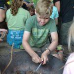 vuur maken met firesteel survivalkamp