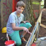 bouwdorp zomerkamp in de bossen