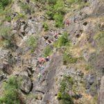 klimmen rotswanden zomerkamp Ardennen België