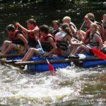 Vlot varen survivalkamp zomer Ardennen Belgie